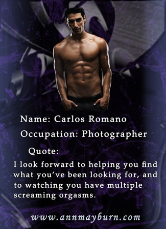 Carlos from 'Blushing Violet' by Ann Mayburn Contemporary Erotic Romance w/ BDSM Elements