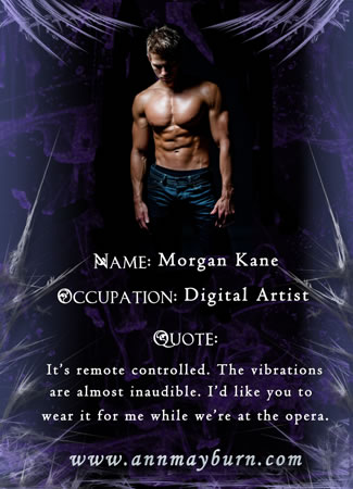 Morgan from 'Blushing Violet' by Ann Mayburn Contemporary Erotic Romance w/ BDSM Elements